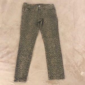 Leopard Animal Print Jean Pants by Cache, Size 10